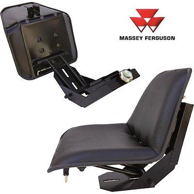 BANCO ASSENTO CONCHA COM SUPORTE MASSEY FERGUSON (SUPORTE PRETO - LINHA X -  BASE RETA) 50X / 55X / 65X / 65R / 85X / 95X - 1484359