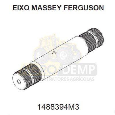 EIXO PEDESTAL DA DIREÇÃO - MASSEY FERGUSON 296 / 297 E 299 - 1488394