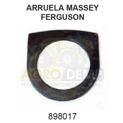 ARRUELA DE ENCOSTO EIXO DIANTEIRO - MASSEY FERGUSON 50X / 55X / 65X / 85X / 95X / 250X / 265X / 275X 235 / 250 / 265 / 275 / 283 / 290 / 292 E 296 - 898017