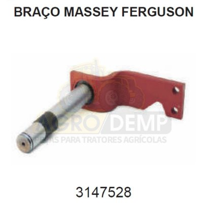 EIXO INFERIOR DA DIREÇÃO (MECÂNICA) - MASSEY FERGUSON 65R / 85X / 95X / 275 / 285 E 290 - 3147528