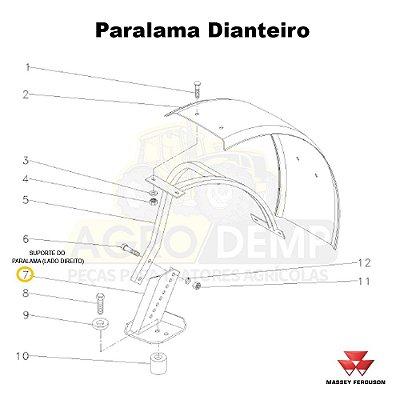 SUPORTE DO PARALAMA (LADO DIREITO) - MASSEY FERGUSON 290ADV / 290 / 292ADV / 292 / 297ADV / 297 / 298ADV / 298 / 299ADV / 299 / 610 / 620 / 630 / 640 / 650ADV / 650 / 5275 / 5285 E 5290 - 053071