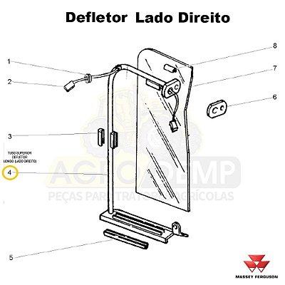 TUBO SUPERIOR DEFLETOR LONGO (LADO DIREITO) - MASSEY FERGUSON 292 - 022946