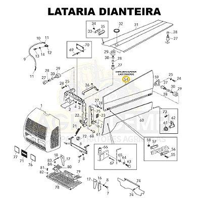 CHAPA CANTO SUPERIOR (LADO ESQUERDO) - VALTRA BF65 / BF75 / BL77 / 600 E 700 - 81919920