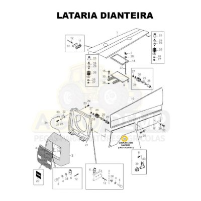 CHAPA INFERIOR DIANTEIRA (LADO ESQUERDO) 4X4 - VALTRA 885 E 985 - 81605700