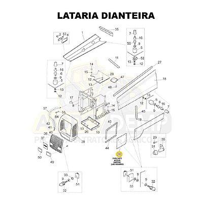 CHAPA LATERAL CANTO INFERIOR DIANTEIRO (LADO ESQUERDO) - VALTRA BH140 / BH160 / BH180 / 1280R / 1580 E 1780 - 81669200