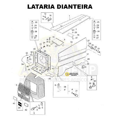 CHAPA LATERAL CANTO INFERIOR DO DIANTEIRO (LADO DIREITO) - VALTRA BM110 GERAÇÃO 1 - 81896100