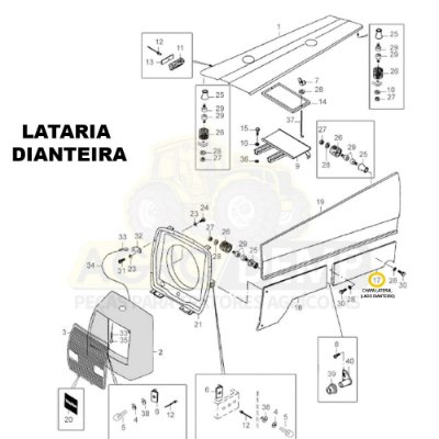 CHAPA LATERAL CANTO INFERIOR (LADO DIREITO) - VALTRA 985 - 80803510