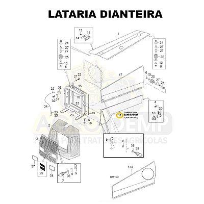 CHAPA LATERAL CANTO INFERIOR (LADO DIREITO) - VALTRA BM85 E BM100 GERAÇÃO 1 - 81895300