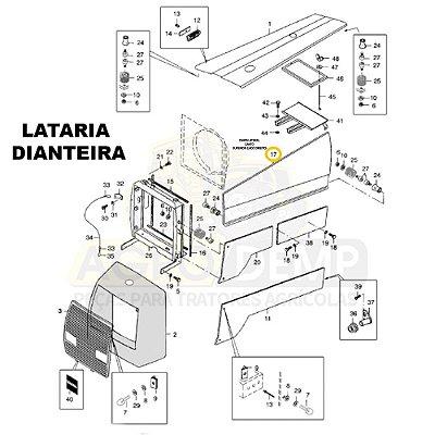 CHAPA LATERAL CANTO SUPERIOR (LADO DIREITO) 4X2 - VALTRA 885 - 80653800