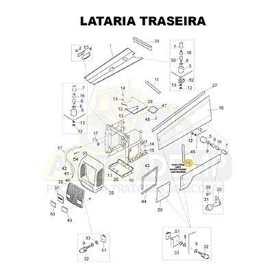 CHAPA LATERAL INTERIOR TRASEIRA (LADO ESQUERDO) - VALTRA BH140 / BH160 / BH180 / 1280R / 1580 E 1780 GERAÇÃO 1 - 81669400