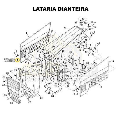 CHAPA LATERAL (LADO DIREITO) - VALTRA 1280R / 1580 E 1780 GERAÇÃO 1 - 80999810