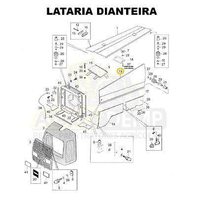 CHAPA LATERAL (LADO DIREITO) - VALTRA - BH140 / BH160 / BH180 / BM120 / 1280R / 1580 E 1780 - 81926700