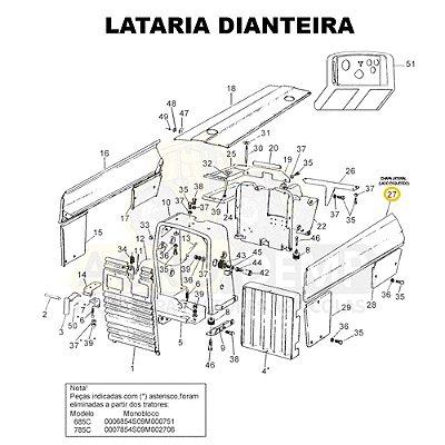 CHAPA LATERAL (LADO ESQUERDO) - VALTRA 785C E 785F - 81937200