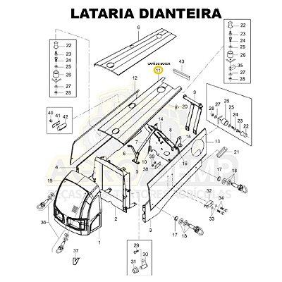 CAPÔ DO MOTOR - VALTRA BM100 GERAÇÃO 2 - 85053900