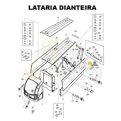 CHAPA CANTO SUPERIOR (LADO ESQUERDO) - VALTRA BM100 GERAÇÃO 2 - 85524100