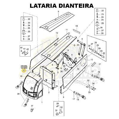 CHAPA LATERAL CANTO INFERIOR (LADO DIREITO) - VALTRA BM85 E BM100 (GERAÇÃO 2) - 85054800