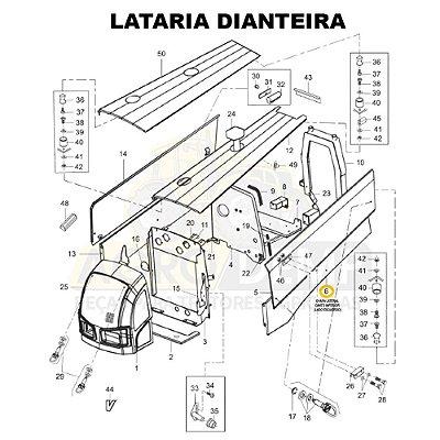 CHAPA LATERAL CANTO INFERIOR (LADO ESQUERDO) - VALTRA BM110 GERAÇÃO 2 E BM125 GERAÇÃO 1 - 85126800