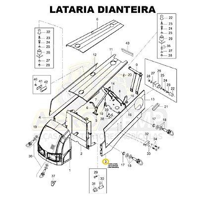 CHAPA LATERAL CANTO INFERIOR (LADO ESQUERDO) - VALTRA BM85 E BM100 (GERAÇÃO 2) - 85054500
