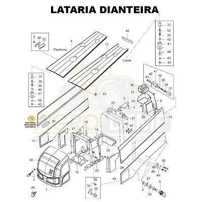 CHAPA LATERAL CANTO SUPERIOR (LADO DIREITO) - VALTRA BH145 / BH165 / BH180 / BH185 / BH205 / 1280R E 1780 (GERAÇÕES 1 E 2) - 85062000