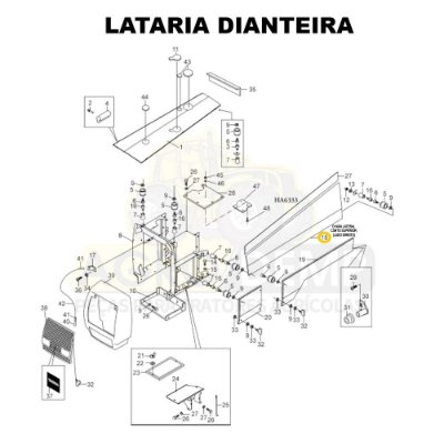 CHAPA LATERAL CANTO SUPERIOR (LADO DIREITO) - VALTRA  / VALMET 1280 / 1380 / 1580 / 1680 / 1780 E 1880 - 82013810