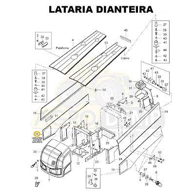 CHAPA LATERAL DO INTERIOR (LADO DIREITO) - VALTRA BH145 / BH165 / BH180 / BH185 E BH205 (GERAÇÃO 1 E 2) - 85138800