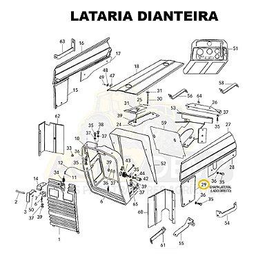 CHAPA LATERAL (LADO DIREITO) - VALTRA 585 / 685C / 685F / 785C E 785F - 83125500
