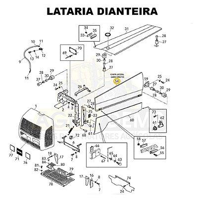 CHAPA LATERAL (LADO DIREITO) - VALTRA BL88 / 800 E 900 - 82314210