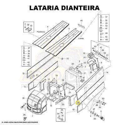GRADE LATERAL COM AR-CONDICIONADO (LADO ESQUERDO) - VALTRA BH145 / BH165 / BH180 / BH185 E BH205 (GERAÇÕES 1 E 2) - 85559900
