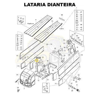 GRADE LATERAL (LADO DIREITO) - VALTRA BH145 / BH165 / BH180 / BH185 E BH205 (GERAÇÃO 1 E 2) - 85139500