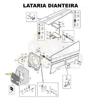GRADE TRAÇÃO 4X4 - VALTRA / VALMET 885 E 985 - 82072210