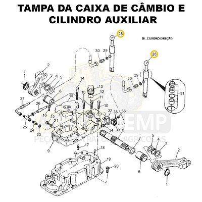 CILINDRO DIREÇÃO COM ROTULA - VALTRA 785C - 83435900CR
