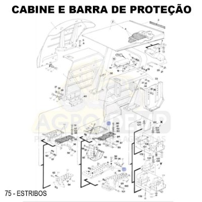 ESTRIBO (LADO ESQUERDO) - FORD / NEW HOLLAND 4610 / 5610 / 6610 / 7610 E 7810 - E9NN16451AA