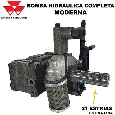 BOMBA HIDRÁULICA COMPLETA DO LAVANTE TRASEIRO (IMPORTADA) MASSEY FERGUSON 235 / 265 / 275 / 283 / 298 /  299 - 4265 A 4292 -  5265 A 5292 - 1490361 / 3773700