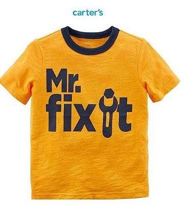Camisa Carter's Manga Curta - Mr. Fix It