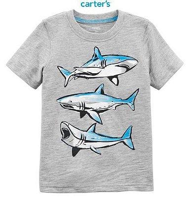Camisa Carter's Manga Curta - Tubarão