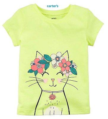Camisa Carter's Manga Curta - Gatinha