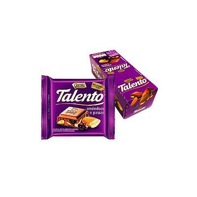 Chocolate Talento de Amêndoas e Passas com 15 unidades de 25g cada Garoto