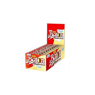 Chocolate Baton Duo Branco com 30 unidades de 16g cada Garoto
