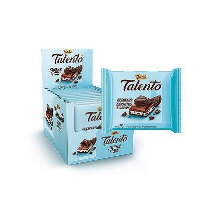 Talento recheado sabor Cookies & Cream com 12 unidades de 90g cada Garoto