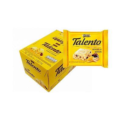 Talento Cereais e Passas com 12 unidades de 90g cada Garoto
