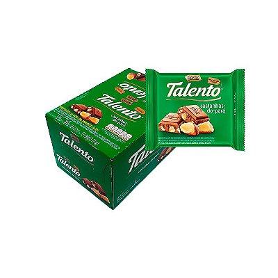 Talento Castanha-do-Pará com 12 unidades de 90g cada Garoto