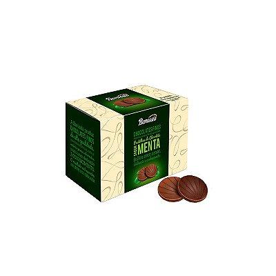 PASTILHA DE CHOCOLATE BORUSSIA SABOR MENTA COM 20 UNIDADES.