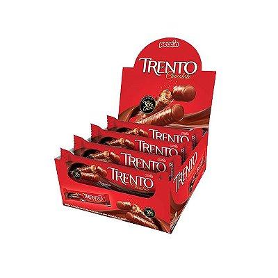 Wafer Trento Chocolate 38% Cacau com 16 unidades de 32g cada