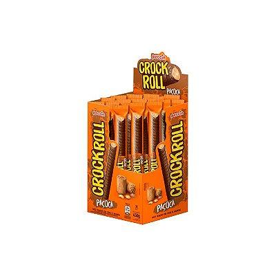 Wafer Crock Roll Paçoca com 30 unidades de 15g cada