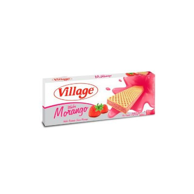 Biscoito Wafer Village Morango 120g