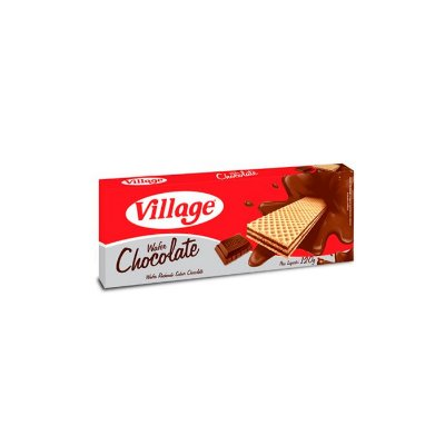 Biscoito Wafer Chocolate Village 120g