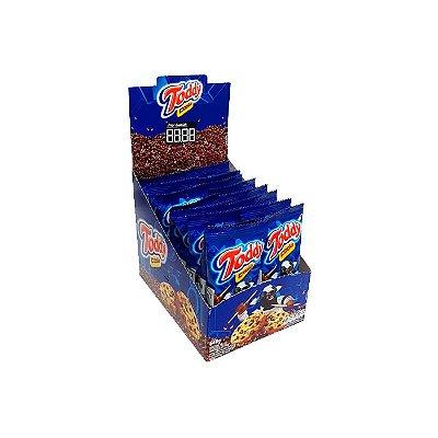 COOKIES TODDY BAUNILHA COM GOTAS DE CHOCOLATE COM 16 UNIDADES DE 40g CADA.