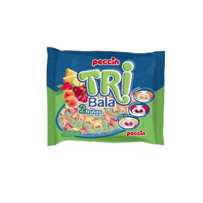 Bala Tribala 2 Frutas Peccin 600g