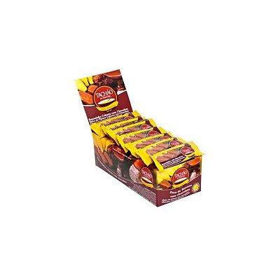 Bananinha Coberta com Chocolate Tachão Contendo 24 unidades de 25g cada
