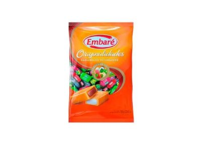 Bala Caramelos Recheados com Frutas 600g Embaré